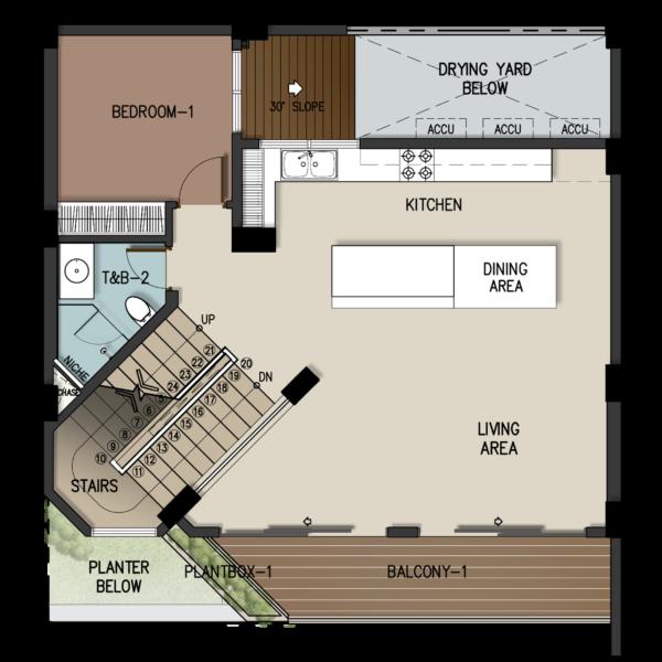 4 Storey Townhome Second Floor