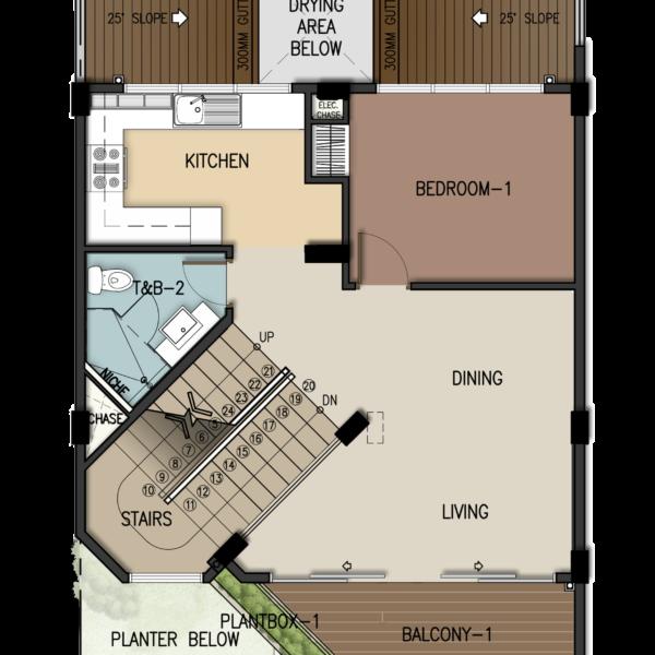 3-Storey Townhome Second Floor