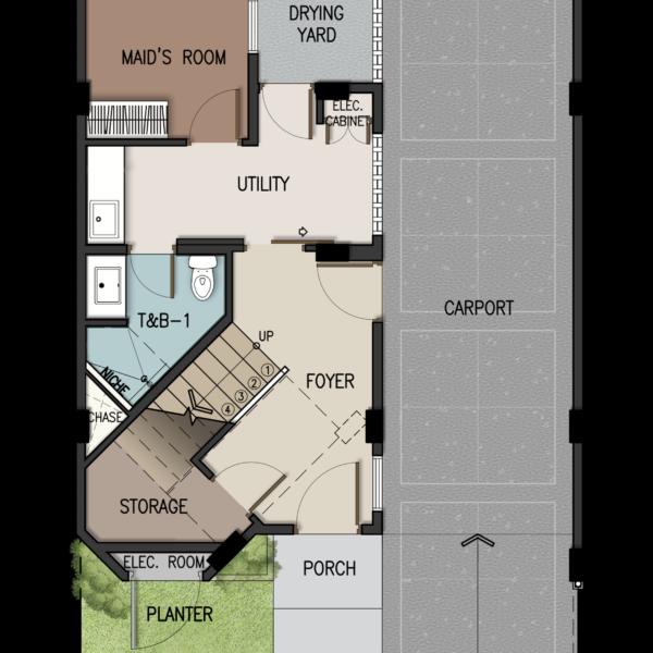 3-Storey Townhome Ground Floor