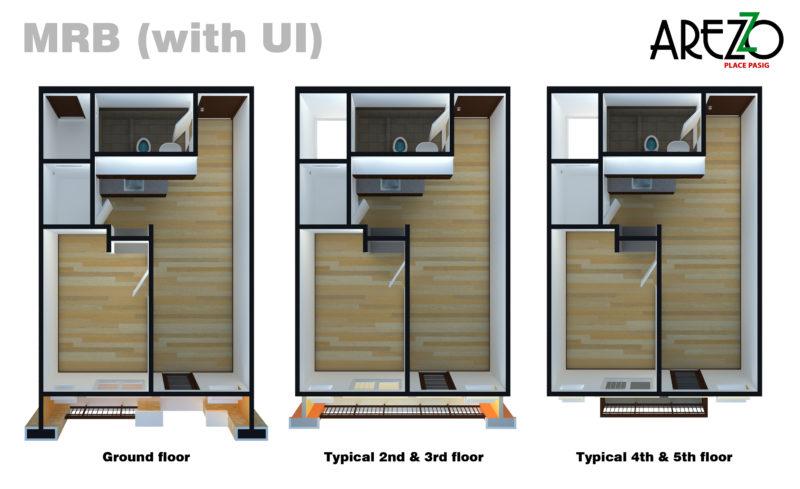 Typical Unit Floor Layout with Unit Improvement
