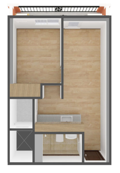 Typical 2nd & 3rd Floor Unit 3.5 SQM