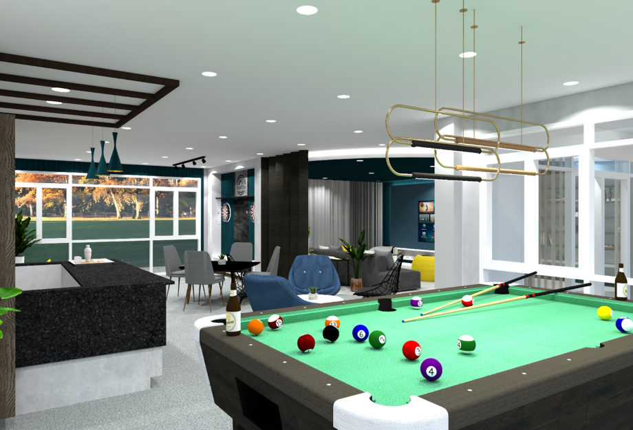 Game Room with Mini-Bar