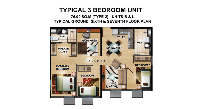 Unit A With Balcony