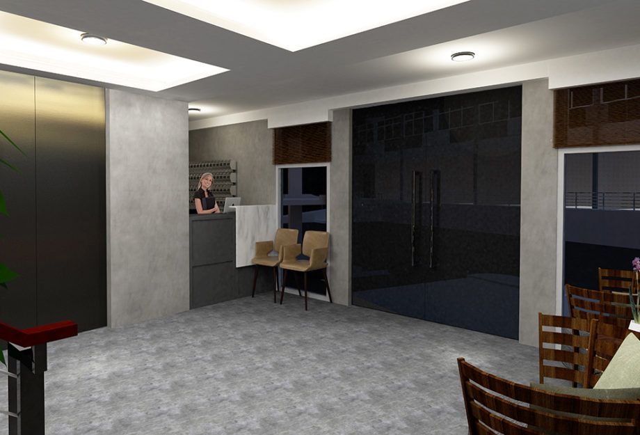 LOBBY RECEPTION WITH WAITING AREA