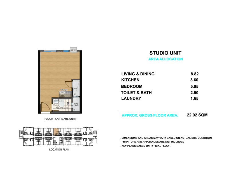 Turnover Unit Floor Layout