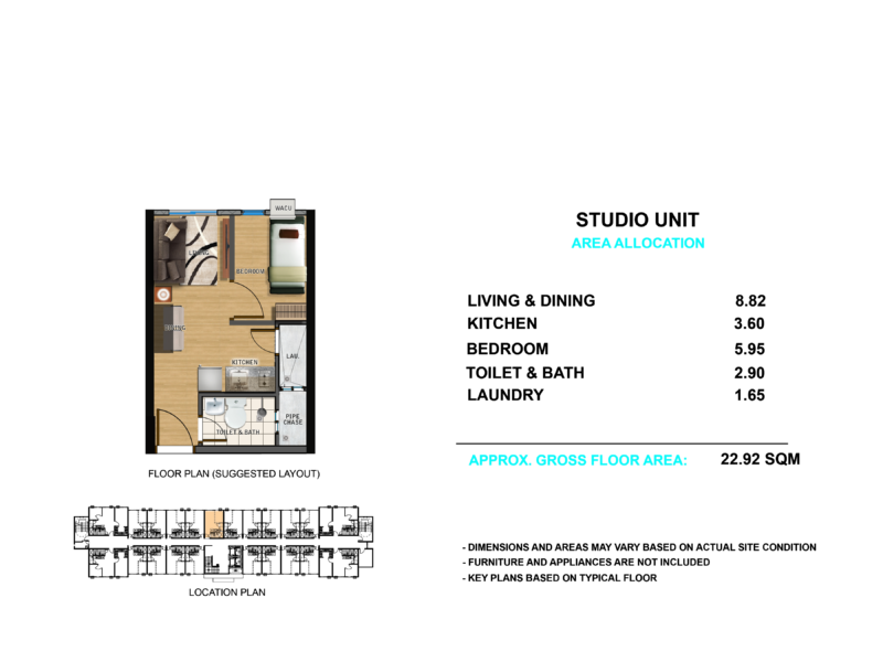 Suggested Unit Floor Layout